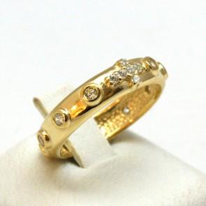 Anello rosario argento e zirconi