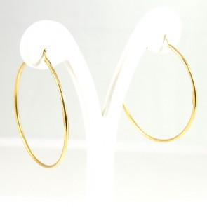 Orecchini cerchi ad anelle oro - 5,75 gr; 4,5 cm