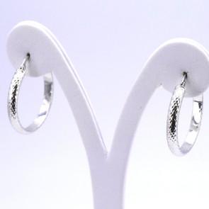 Orecchini anelle, oro - 2.13 gr; 2.8 cm