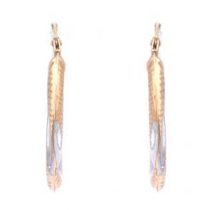 Orecchini anelle oro bicolore in stile