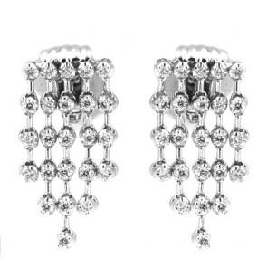 Orecchini Re Carlo oro e 6 file di diamanti - 1.05 ct - 3.5 cm; 16.7 gr
