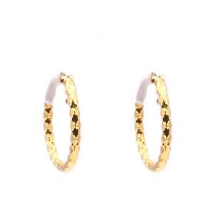Orecchini anelle oro, battute