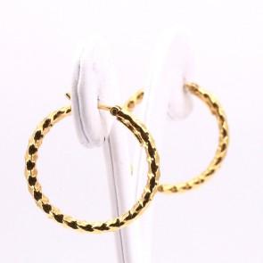 Orecchini anelle oro, battute - 2.5 gr; 2.4 cm