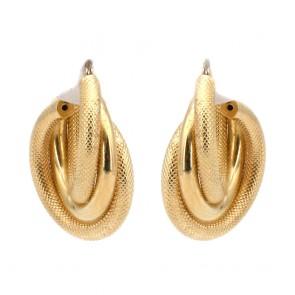 Orecchini anelle triple oro