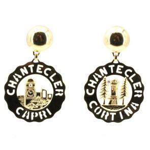 Orecchini Chantecler Logo, Capri-Cortina oro