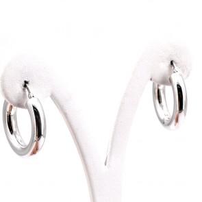 Orecchini anelle, oro bianco; 4.7 gr