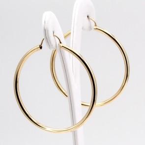 Orecchini anelle, oro giallo; 10.08 gr