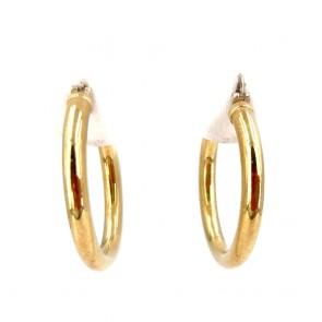 Orecchini anelle, oro giallo