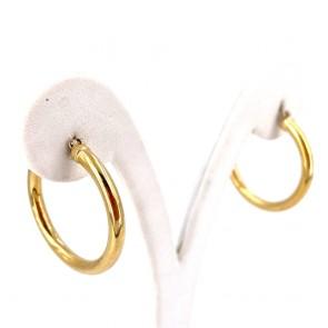 Orecchini anelle, oro giallo; 4.32 gr
