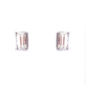 Orecchini punti luce oro e diamanti rettangolari