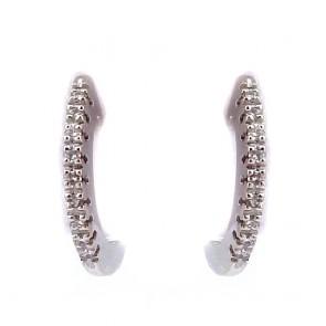 Orecchini anelle, oro e diamanti
