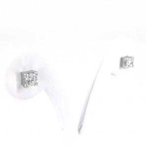 Orecchini punti luce oro e diamanti - 1.10 ct; 2.83 gr