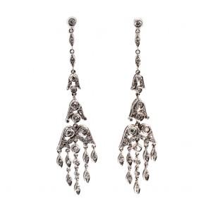 Orecchini pendenti chandelier oro e diamanti