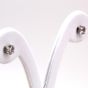 Orecchini punti luce oro e diamanti - 1.04 ct; 1.68 gr
