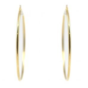 Orecchini ad anelle oro - 3,2 gr; 5,5 cm