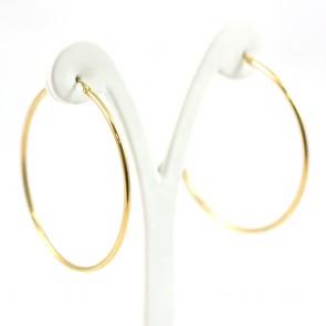 Orecchini ad anelle oro - 5.78 gr; 5.2 cm