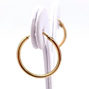 Orecchini anelle, oro giallo; 2.2 cm - 2.75 gr
