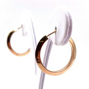 Orecchini anelle, oro giallo; 2.2 cm - 2.92 gr