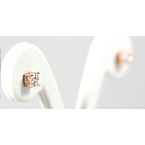 Orecchini punti luce argento rosa e zirconi