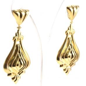 Orecchini pendenti zingareschi oro - 7 cm; 10,92 gr