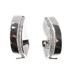 Orecchini pendenti/anelle oro e diamanti
