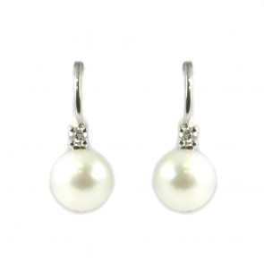 Orecchini oro, perle giapponesi