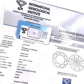 Brillante certificato HRD. ct 0.53; D-IF