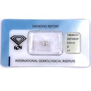 Brillante certificato HRD. ct 0.53
