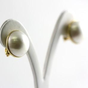 Orecchini al loro oro e perle mabè - 1,8 cm; 10,9 gr