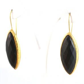 Orecchini argento e tormaline nere - 5.6 cm; 15.6 gr