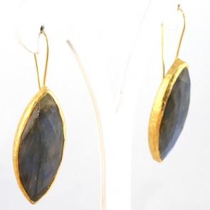 Orecchini argento e labradorite - 5.9 cm; 17.7 gr