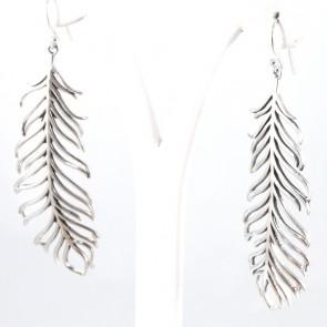 Orecchini argento piume - 7.2 cm; 10.5 gr