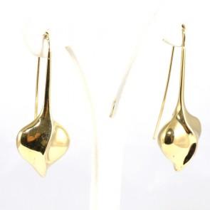 Orecchini pendenti stilizzati oro - 14.2 gr; 5.5 cm