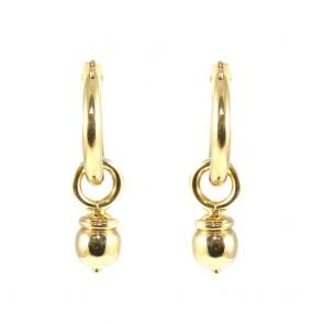 Orecchini anelle + bulle pendenti oro