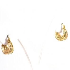 Orecchini anelline 3 colori oro - 2.8 gr; 1.5 cm