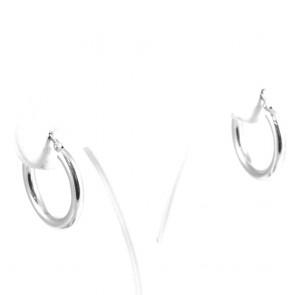 Orecchini cerchi ad anelle oro bianco - 2.08 gr; 2.2 cm