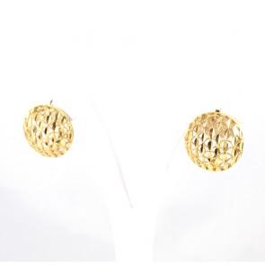 Orecchini circolari traforati oro - 5.6 gr; 1.9 cm