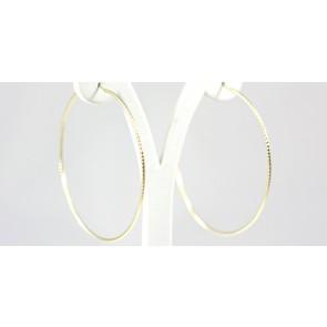 Orecchini ad anelle argento dorato - diametro 6,5 cm; 4,1 gr