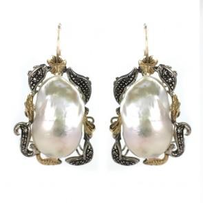 Orecchini maxi in stile perla barocca