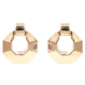 Orecchini geometrici maxi argento dorato