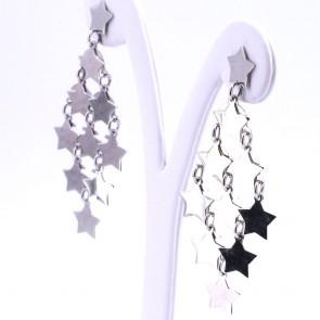 Orecchini pendenti stelle maxi argento - 5.6 cm; 7.3 gr