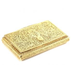 Scatola d'oro cesellata a mano- 93,6 gr