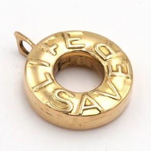 Ciondolo portafortuna Life Saver oro giallo - 1.55 gr; 2.4 cm
