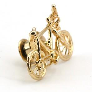 Spilla bicicletta oro - 3.06 gr; 2.5 cm x 1.6 cm