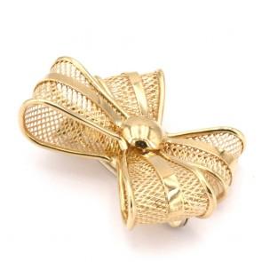 Spilla fiocco oro - 6 gr; 3.5 cm x 2.7 cm