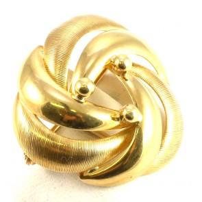 Spilla oro - 0,10-0,11 ct; 5,4 gr; 2,7 cm
