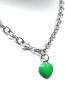 Collana catena argento e cuore smaltato
