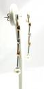 Orecchini oro bicolore, perle e diamanti