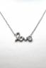 Collana LOVE argento e zirconi